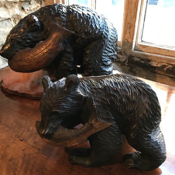19th Century Carved Black Forest Bear