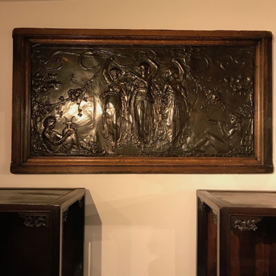 19th Century Copper Panel