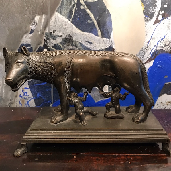 Bronze 19th Century Romulus and Remus