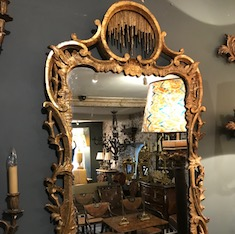 18th Century Irish Giltwood Wall Mirror