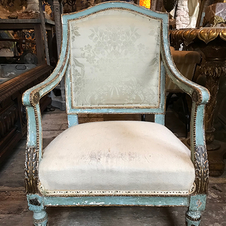 18th Century Italian Open Armchair