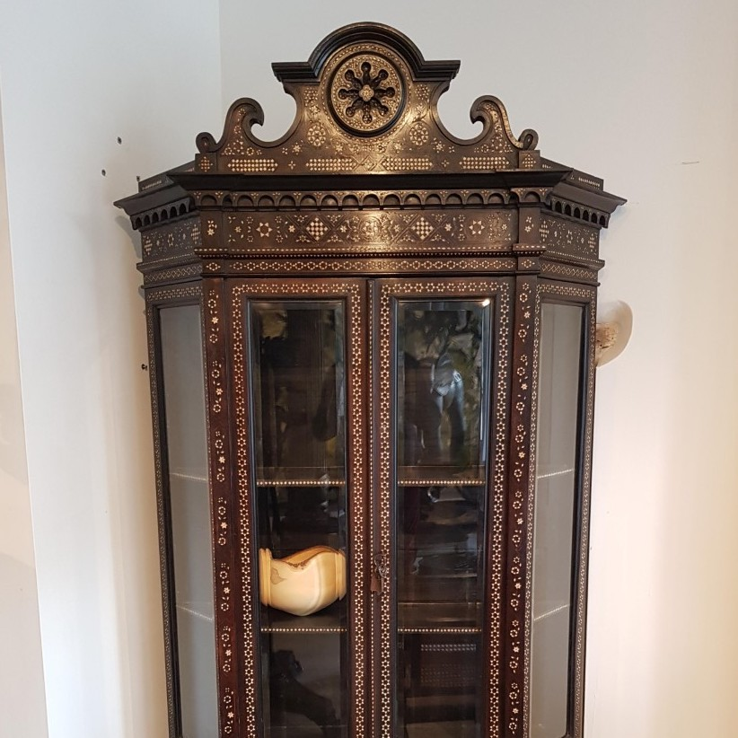 19th Century Bone Inlay Cabinet