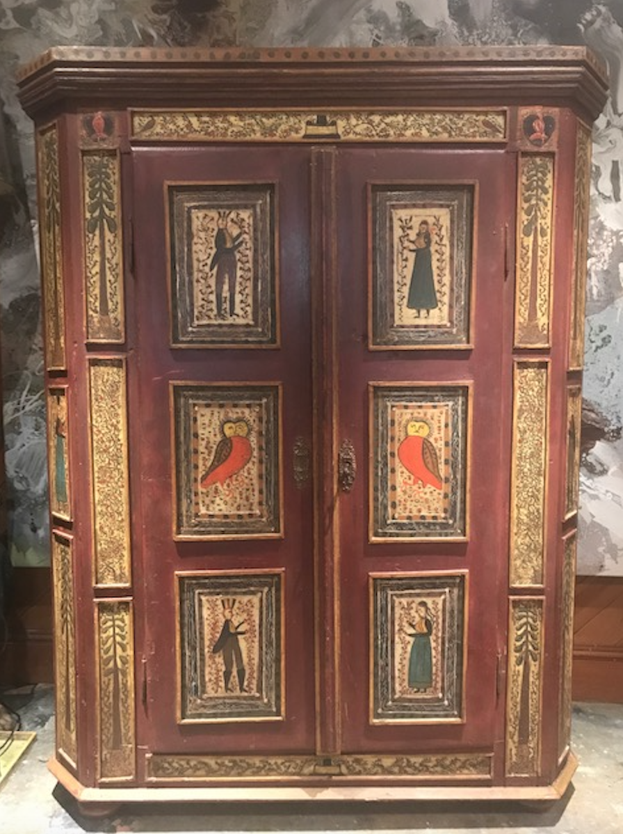 18th Century Folk Art Armoire