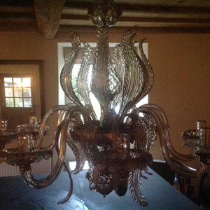 19th century Morano glass chandelier
