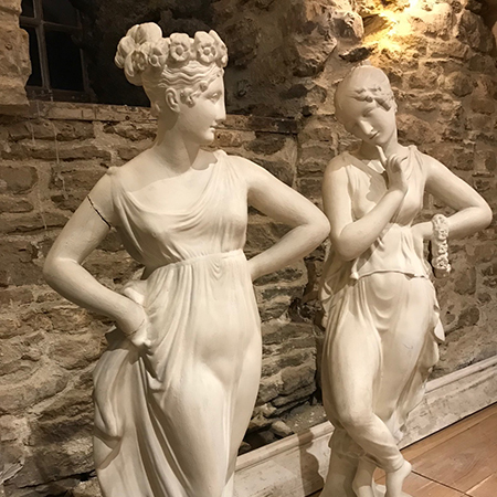 19th Century Plaster Statues
