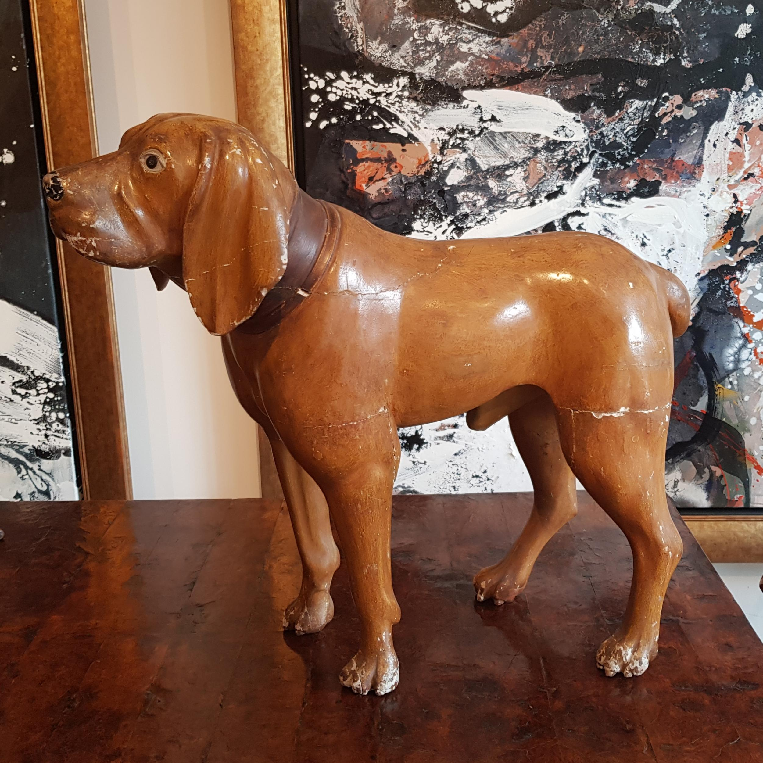 19th Century Polychrome Hound
