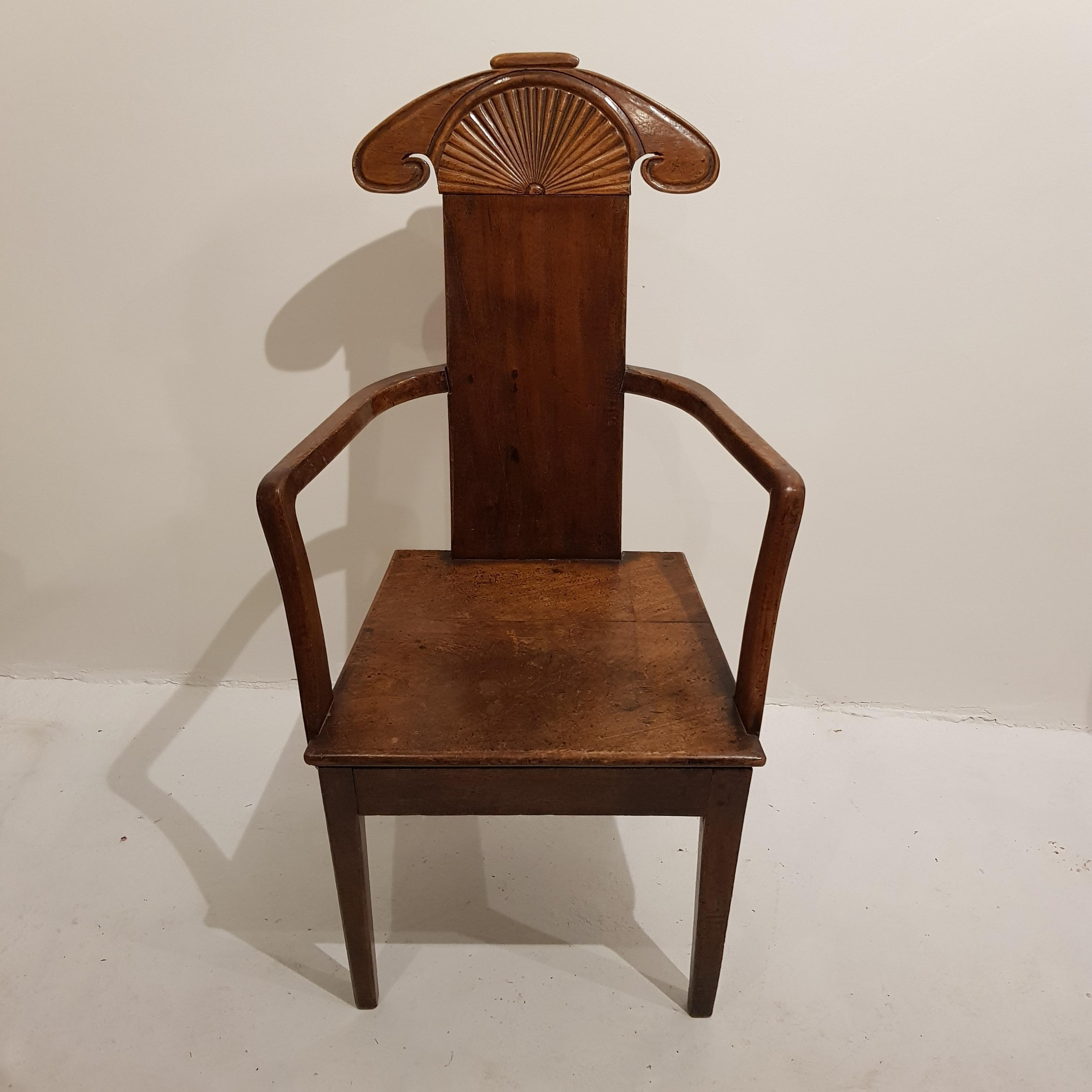 19th Century Walnut Side Chair