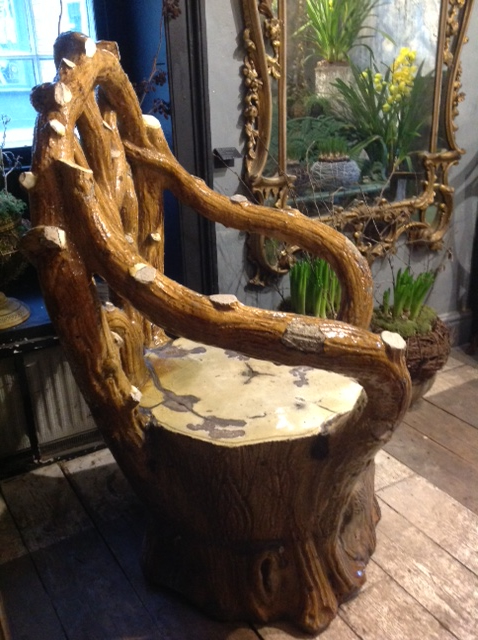 A Huge Grotto Chair Ceramic