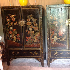 A pair of antique Chinese cabinets