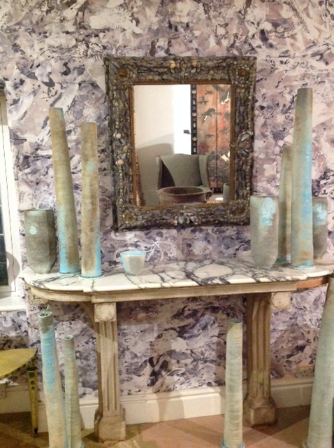 Antique French Console Table with Marble Top Furniture