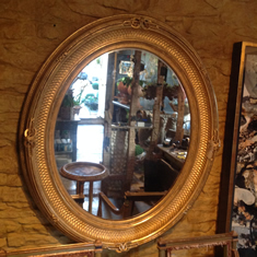 Antique Gilt Oval Mirror