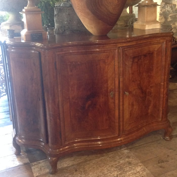 Antique Serpentine Cabinet