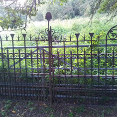 Pair of Arts and Crafts Iron Gates
