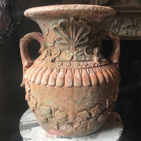 C19 th terracotta urns