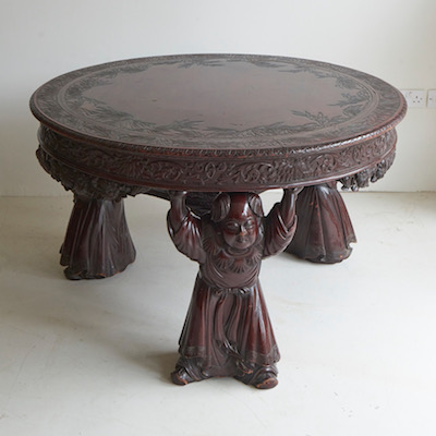 C19th Chinese Lacquered Centre Table