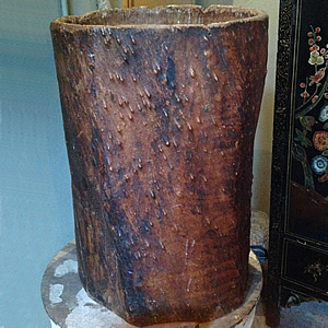 C19th hollowed out tree trunk