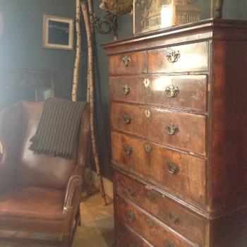 Antique walnut chest on chest