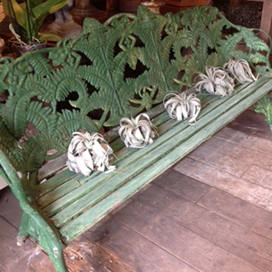 Coalbrookdale Fern and Blackberry cast iron bench
