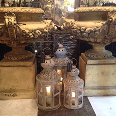 Fantastic Aged Lanterns can be used both inside and out