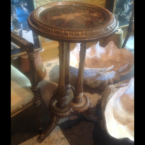 Gilt and marble table with gilt base