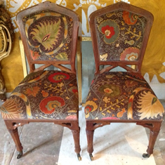 Gothic Oak Chairs