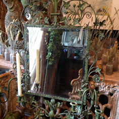 Large Faux Bronze French Mirror