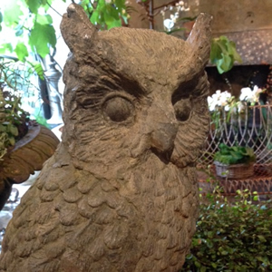 Lead Statue of an owl - Early 20th Century