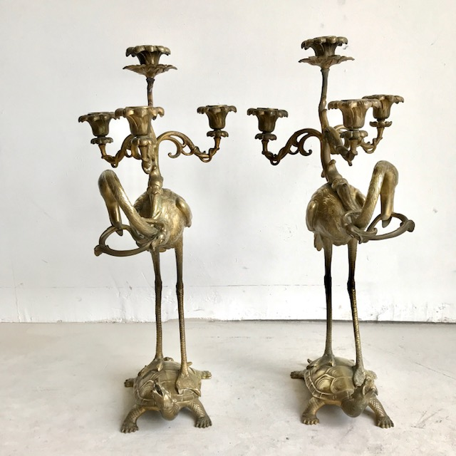 Pair of 19th Century French Gilded Candlesticks
