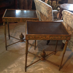 Pair of Antique Century Painted Tables