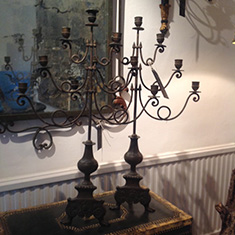 Good Pair of Brass Candelabra