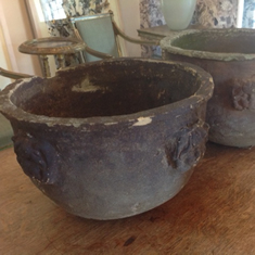 Pair of C19th terracotta pots
