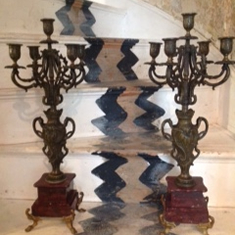 Pair of French candelabras