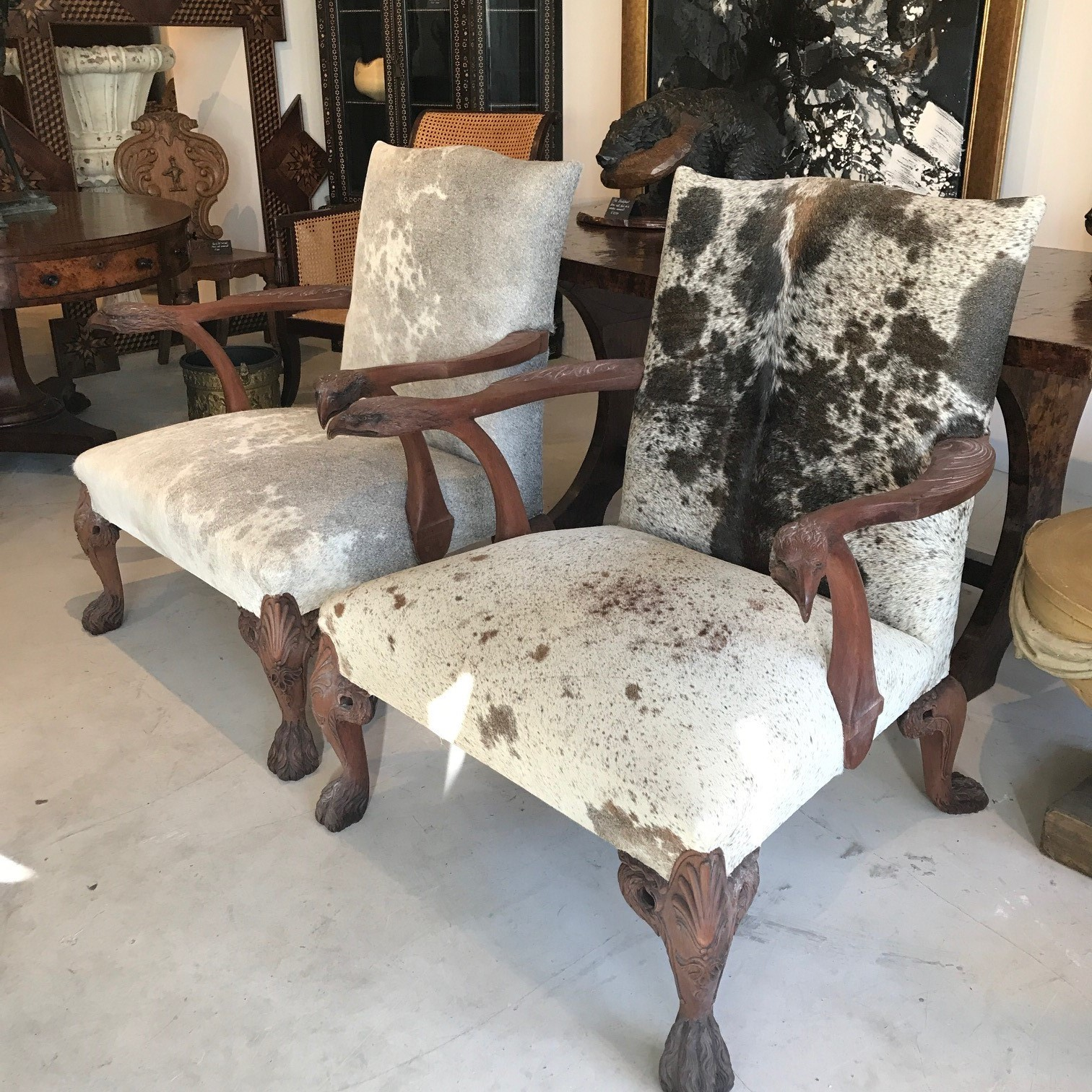 Pair of Griffin Armchairs