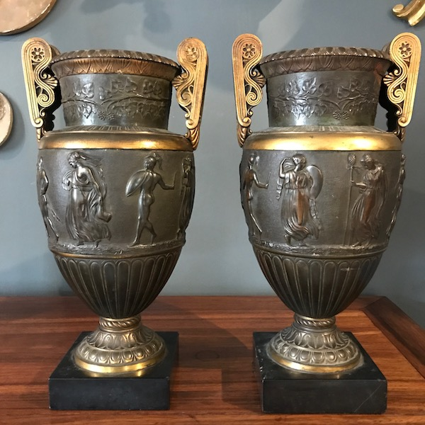 Pair of Italian Grand Tour Urns