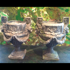 Pair of Regency Lead Urns