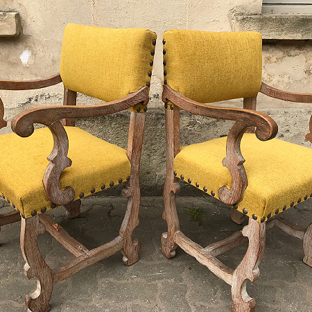 Antique pair of side chairs