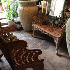 Pair of Wrought Iron French Benches