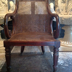 Regency Caned Library Chair