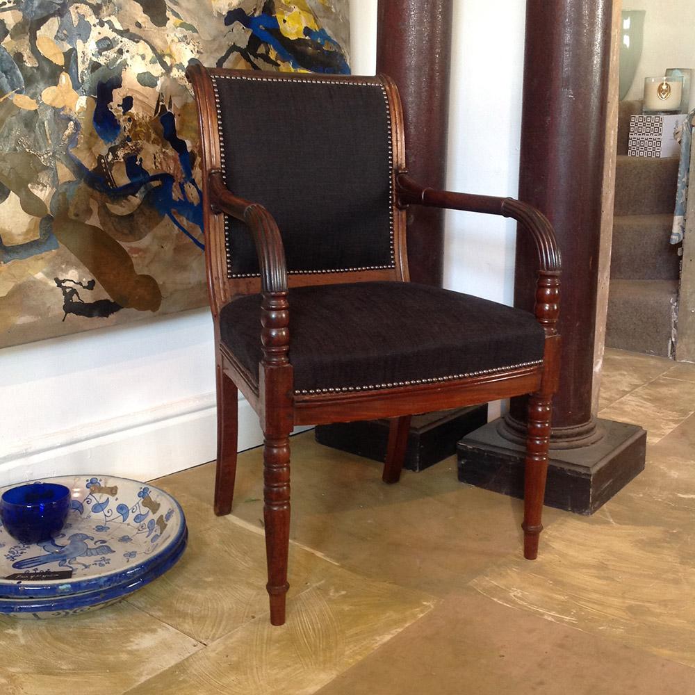Regency mahogany open arm desk chair furniture