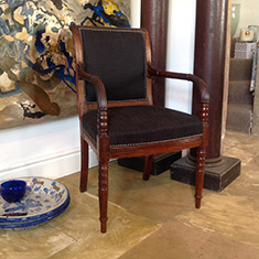 Regency mahogany open arm desk chair