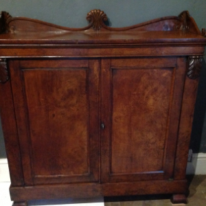 Regency pollard oak side cabinet