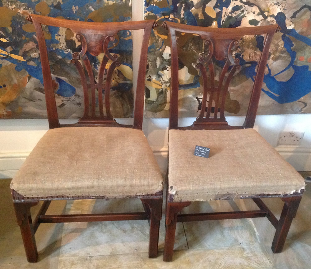 Set of 4 Antique Georgian Dining Chairs - Set Of 4 Antique Georgian Dining Chairs Furniture