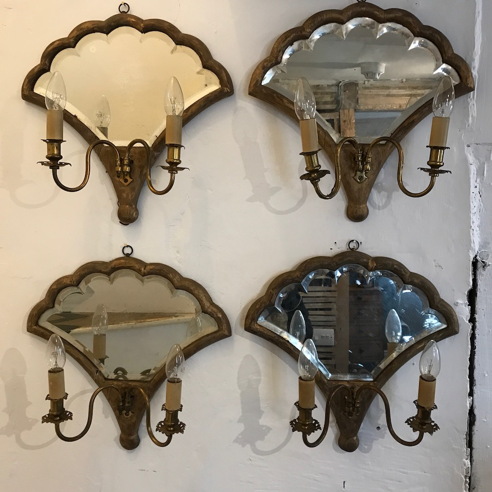 Set of 4 Girandole Wall Lights
