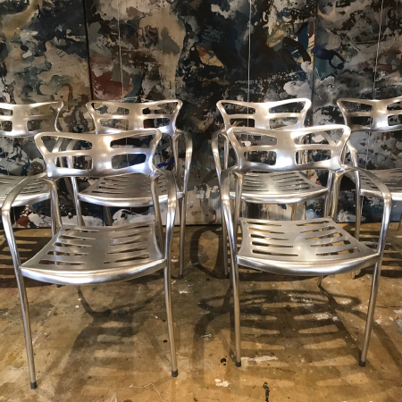 Set of 6 metal chairs