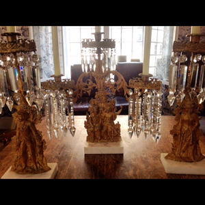 Set of three candelabras