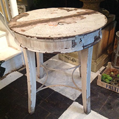 Stunning Pair of French Painted Tables