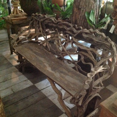 Twisted vine bench