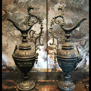 Pair of antique Italian Ewers / urns.