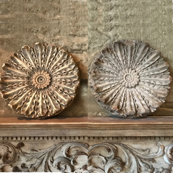 Wooden hand carved Roundels
